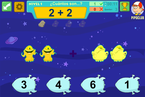 ASTROMAT mental math with Pipo- screenshot