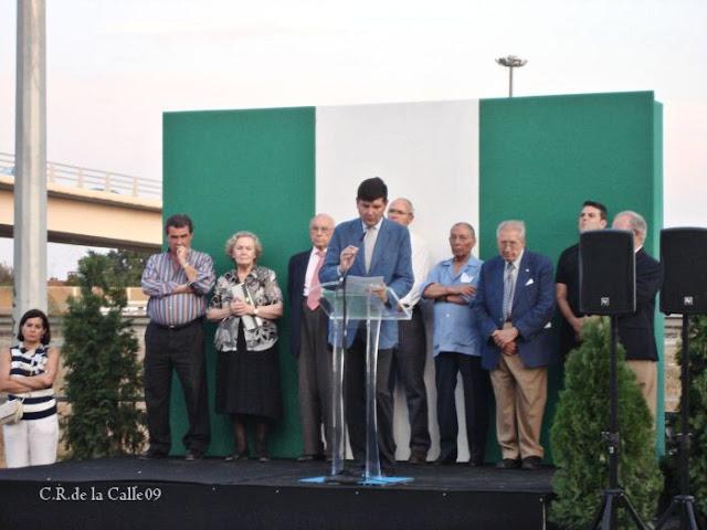 73º aniversario del fusilamiento de Blas Infante. Acto de la Fundación Blas Infante.Carretera de Carmona. 10-08-09.