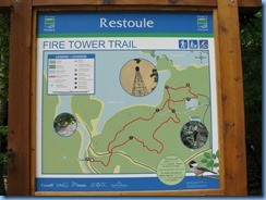 7207 Restoule Provincial Park - walk back to campsite - Fire Tower Trail map