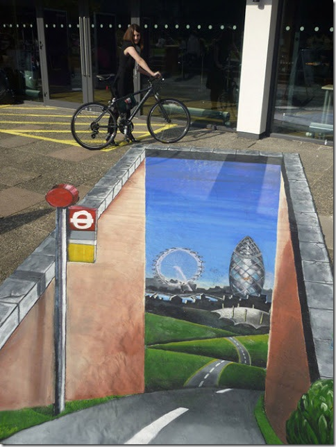 London this way. Bath, England -3D Paintings