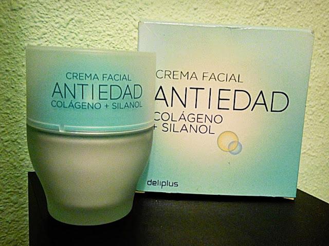 Crema facial Antiedad Colágeno + Silanol Deliplus