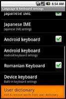 Screenshot of Romanian Keyboard