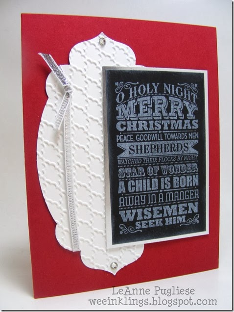 LeAnne Pugliese WeeInklings O Holy Night Chalkboard Card