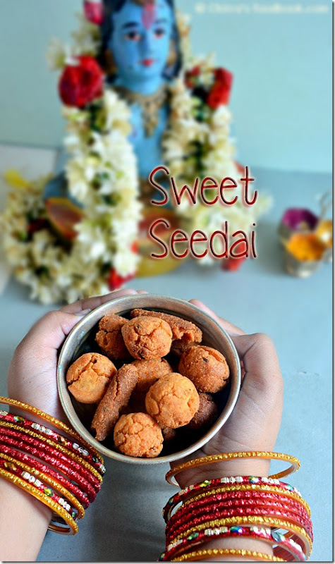 Sweet seedai recipe with rice flour