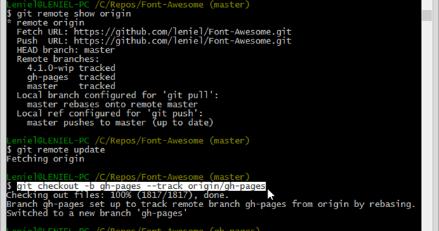 git push new local branch to remote