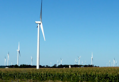 MInnesota cornfield and windfarm