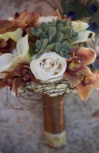 Peacock Bouquet 1 heavenly blooms