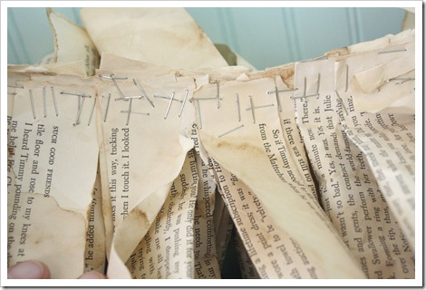 Book page garland anthropologie style