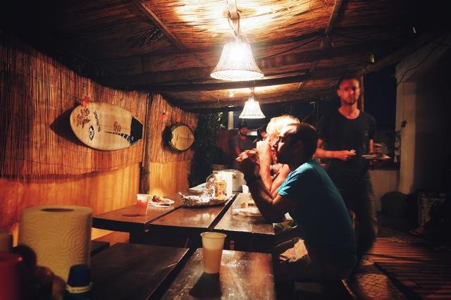 surf camp dinner