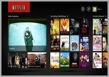 Netflix Windows 8 sovellus