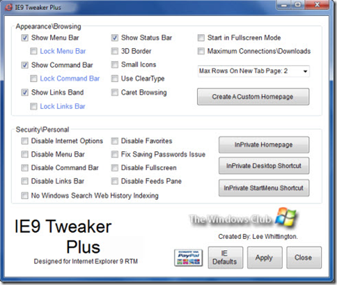 IE9 Tweaker Plus
