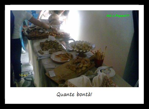 Immagine degli assaggi offerti durante l'evento
