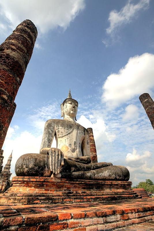 Large seated white buddha