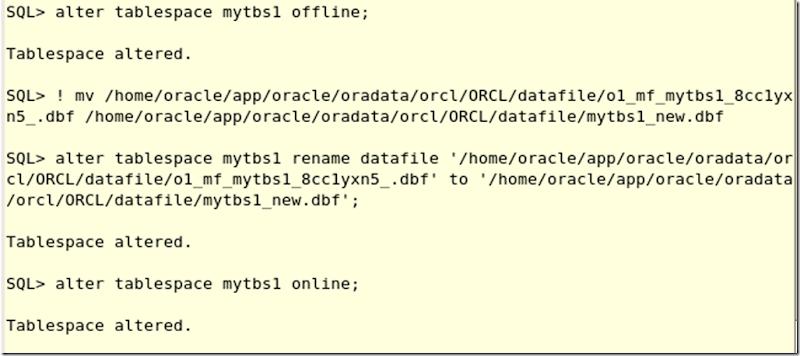 TABLESPACE(5): Datafile operations | SQL Panda