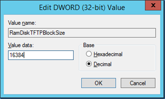 MINDCORE BLOG: Speed up loading the PXE boot image on SCCM