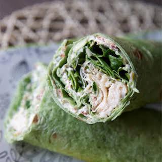 Chicken, Spinach and Cream Cheese Tortilla Wrap.