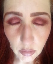 eyes closed facets of marsala palette