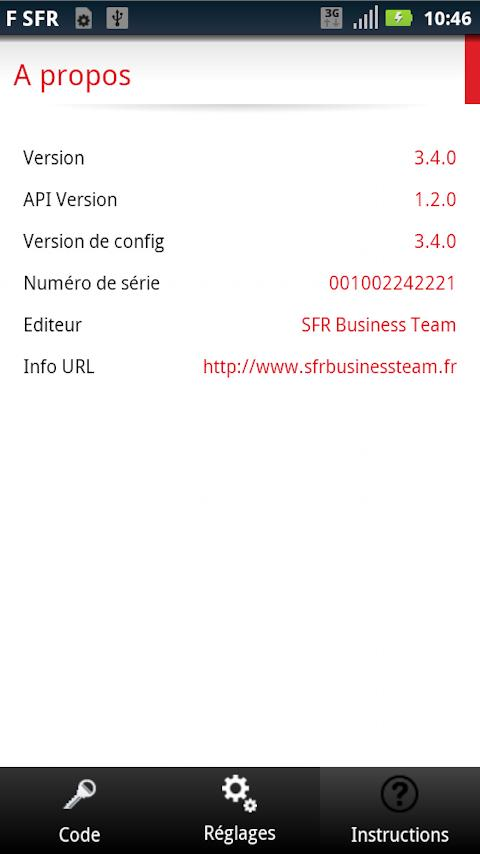 SFR Business OTP Cloud - screenshot