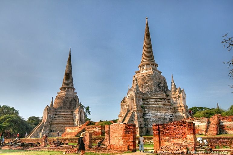 Wat Phra si Sanset The Grand Palace Ayutthaya Thailand