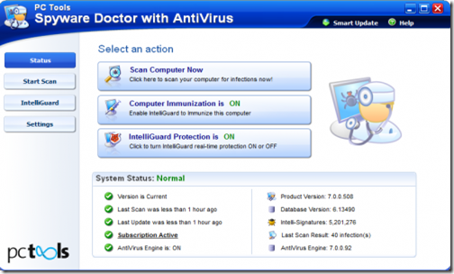 top 10 free antivirus softwares 2012 Spyware doctor.