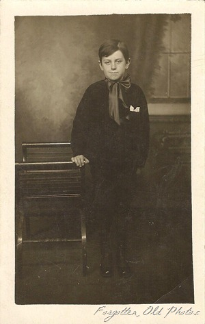 Postcard Azo Triangles up  Young boy Dorset 1