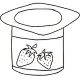 yogurt coloring page yogurt coloring pages