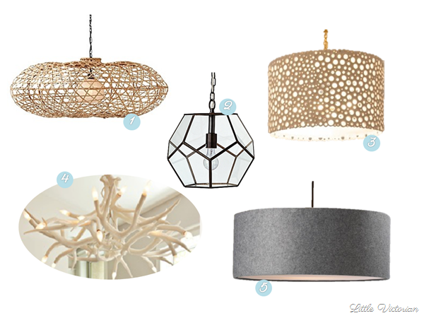 Living Room Drum Pendant and Chandelier Lighting Options