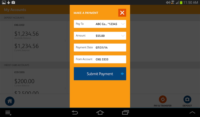 SunTrust Tablet App - screenshot