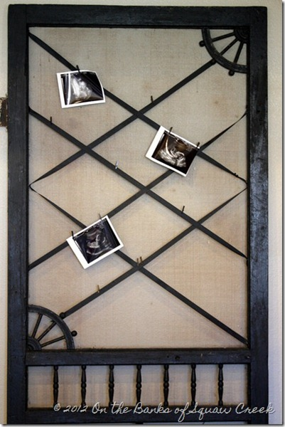 antique screen door bulletin board