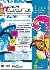Jardim Cultural 2011 - cartaz do evento