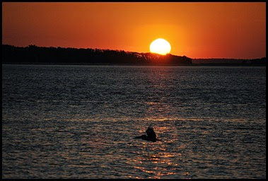 00h - Fort Clinch SP - Sunset across Cumberland Sound
