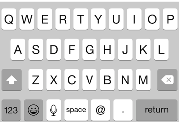 Keyboard, vertically