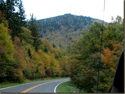 on the way to Mt Mitchell, highest elevation east of the Mississippi