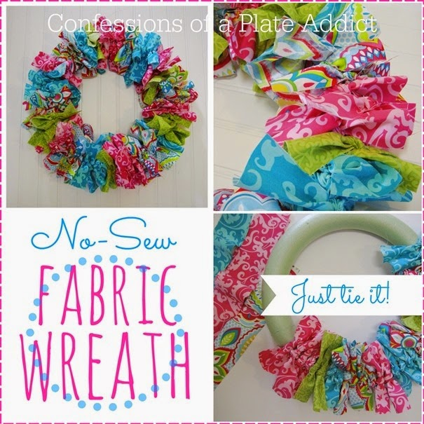 CONFESSIONS OF A PLATE ADDICT No-Sew Fabric Wreath