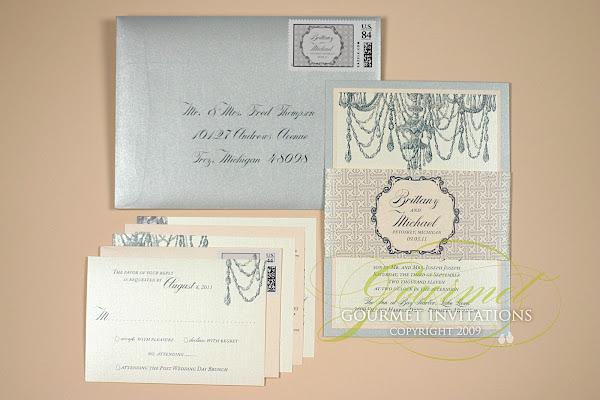 Chandelier Wedding Invitations: Brittany + Michael: Chandelier Invitations