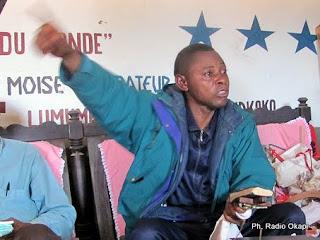 Efanga Olumbu dit «Moïse le libérateur», chef de la secte «Nzambe Lumumba» . Ph.: http://www.bonoboincongo.com
