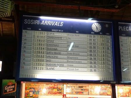 Trenul Chisinau - Bucuresti nu are intarziere