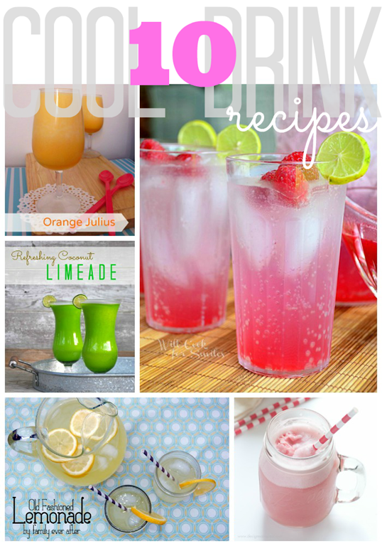 10 Cool Drink Recipes #gingersnapcrafts #linkparty #features