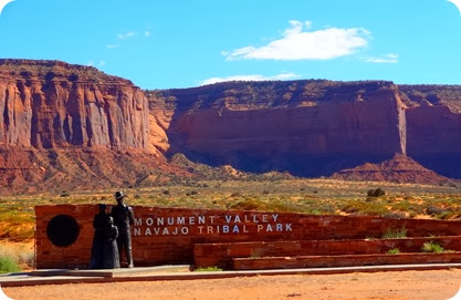 entrance sign monument valley