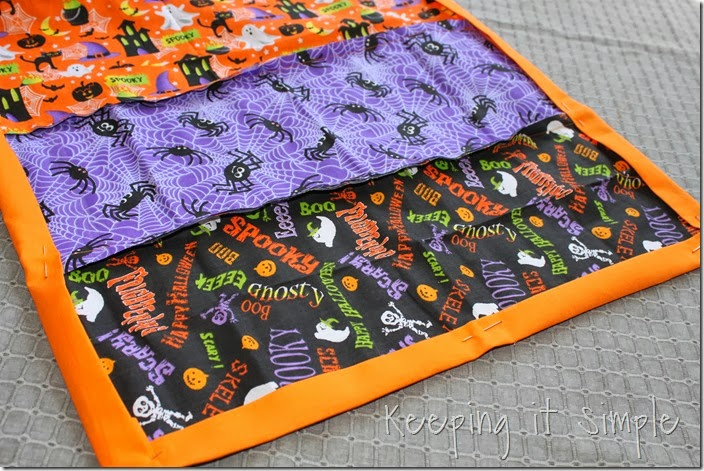 Halloween rag table runner (5)