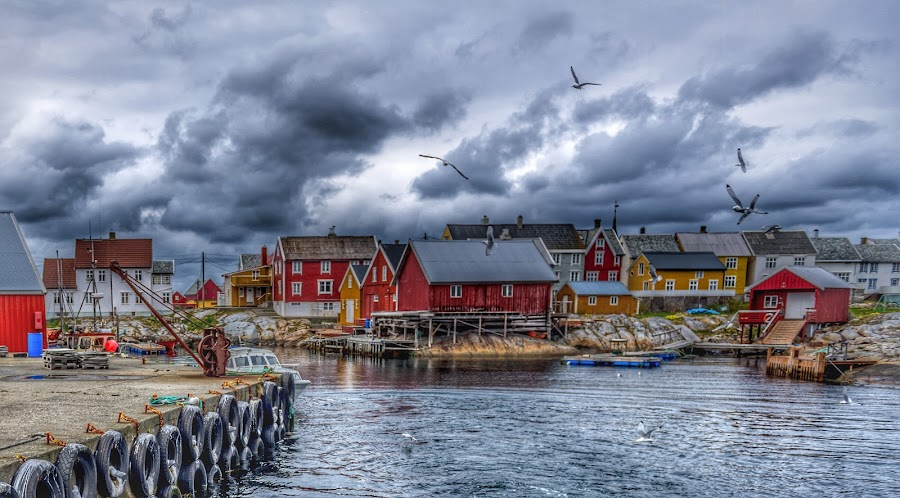 Closed for winter by Astrid Hagland Gjerde - City,  Street & Park  Neighborhoods ( fishing town, abandoned, norway )