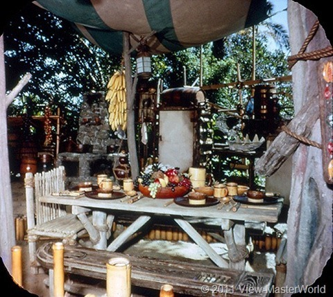 View-Master Adventureland (A177), Scene 1-4: Kitchen of Swiss Family Robinson Tree House