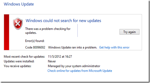 MPECS Inc  Blog: WSUS for Windows 8/Server 2012 and Fixing