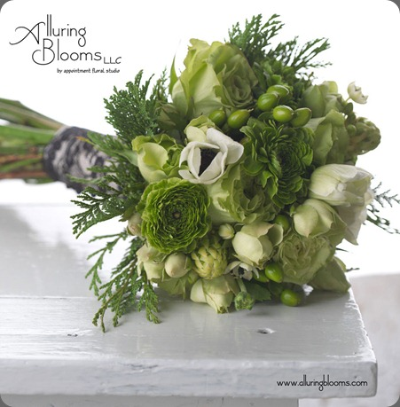 Bouquet---Green-Mixed-Flowers-with-Vintage-Lace-Wrapped-Stems