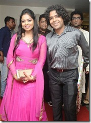 Naresh Iyer at GV Prakash Kumar & Saindhavi Wedding Reception Photos