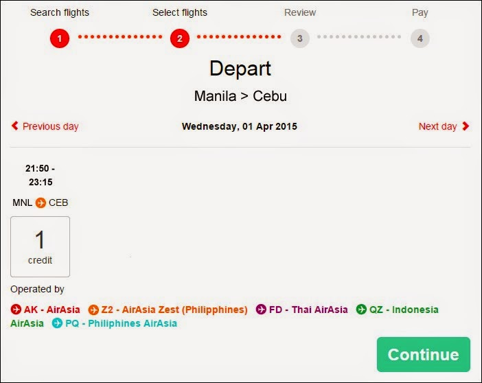 Booking Flights for an AirAsia Asean Pass