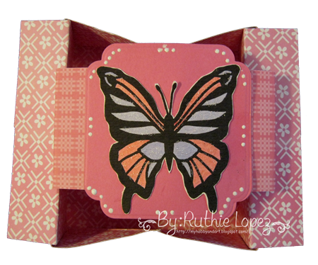 Butterfly - shadow box - box-card