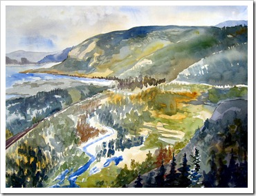 columbia river gorge painting