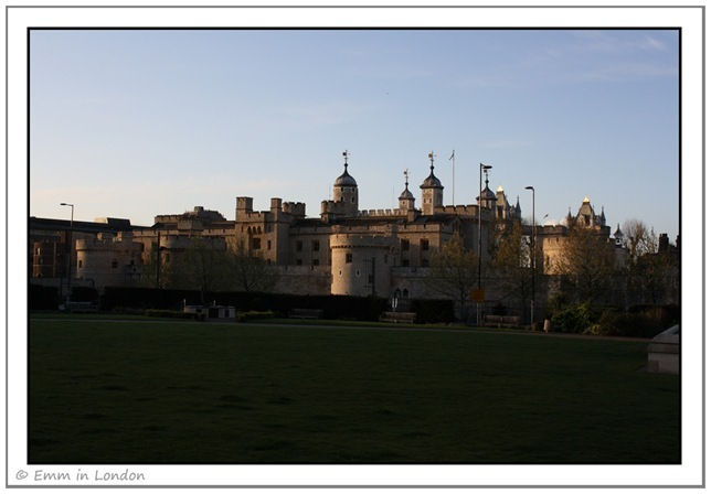 The Tower of London at dawn