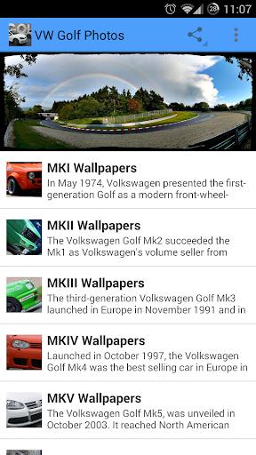 VW Golf Photos